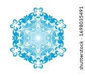 circle snowflake ornaments.... | Shutterstock .eps vector #1698035491