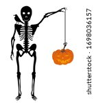 halloween greeting  invitation  ...   Shutterstock .eps vector #1698036157