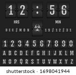 mechanical scoreboard alphabet. ... | Shutterstock .eps vector #1698041944