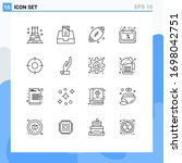 pictogram set of 16 simple...