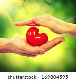 valentine heart in man and... | Shutterstock . vector #169804595