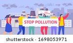 stop pollution vector... | Shutterstock .eps vector #1698053971