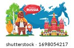 welcome to culture of russia... | Shutterstock .eps vector #1698054217