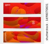 abstract vector wavy pattern... | Shutterstock .eps vector #1698070831