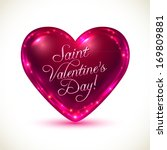 "glossy heart with ""saint... 