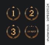 first  second and third winner... | Shutterstock .eps vector #1698105124