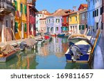 colorful houses by the water... | Shutterstock . vector #169811657