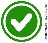 flat checkmark design. check... | Shutterstock .eps vector #1698119701