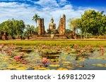 buddha statue at wat mahathat... | Shutterstock . vector #169812029