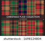 christmas plaid  tartan... | Shutterstock .eps vector #1698124804