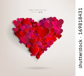 valentines day. abstract paper... | Shutterstock .eps vector #169818431