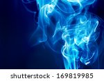 Blue Fire On A Dark Background