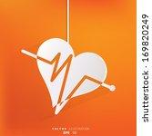 heart rhythm  cardiogram ... | Shutterstock .eps vector #169820249