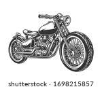 vintage motorcycle concept in... | Shutterstock .eps vector #1698215857