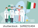 doctor and nurse characters....   Shutterstock .eps vector #1698251404
