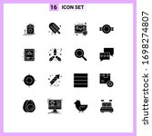 set of 16 commercial solid...