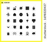 set of 25 vector solid glyphs...