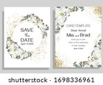 floral card for wedding... | Shutterstock .eps vector #1698336961