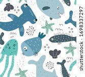 Undersea Seamless Pattern With...