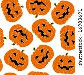 halloween seamless | Shutterstock .eps vector #16983691