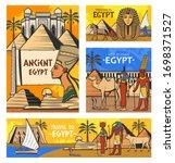 egypt travel vector design with ... | Shutterstock .eps vector #1698371527