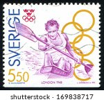 sweden   circa 1992  stamp... | Shutterstock . vector #169838717