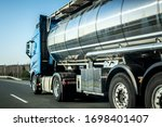 Long Vehicle Tank Trailer On A...