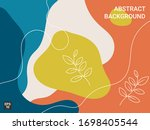modern background with abstract ... | Shutterstock .eps vector #1698405544