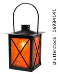 Burning Lantern Isolated On...