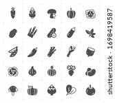 icon set   vegetable icon... | Shutterstock .eps vector #1698419587