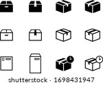icon set of courier  parcel ... | Shutterstock .eps vector #1698431947