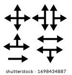 set of black vector arrows on a ...