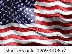 America Flag Of Silk 3d...