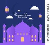 ramadhan kareem theme design  ...   Shutterstock .eps vector #1698444661