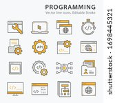 programming icons  such as... | Shutterstock .eps vector #1698445321