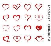 Heart Valentine Icon Set Vecto...