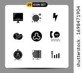 editable vector line pack of 9...