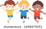 Illustration Of Kids Hopping On ...