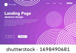 landing page template gradation ... | Shutterstock .eps vector #1698490681