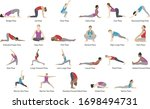a set of yoga illustrations | Shutterstock .eps vector #1698494731