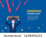 economy crash caused by...   Shutterstock .eps vector #1698496231