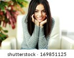 young beautiful happy woman... | Shutterstock . vector #169851125