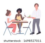 college friends flat color...   Shutterstock .eps vector #1698527011