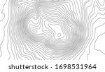 grey contours vector topography.... | Shutterstock .eps vector #1698531964