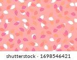 pink  rose  red  orange  white... | Shutterstock .eps vector #1698546421