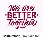 we are better together   design ...   Shutterstock .eps vector #1698566164