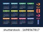 calendar 2021 year. vector kid... | Shutterstock .eps vector #1698567817