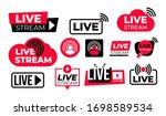 set of live streaming vector... | Shutterstock .eps vector #1698589534