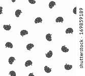 seamless pattern  brain | Shutterstock .eps vector #169859189