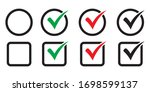 checkbox set with blank and... | Shutterstock .eps vector #1698599137